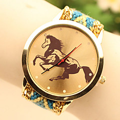Fashion Women's Horse National Weaving South Korea Style Chain DIY Watch Cool Watches Unique Watches Strap Watch