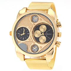 お買い得  大特価腕時計-JUBAOLI 男性用 軍用腕時計 クォーツ 2タイムゾーン ステンレス バンド ハンズ チャーム ファッション ゴールド - ホワイト ブラック 1年間 電池寿命 / SSUO LR626