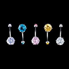 abordables Piercings para el ombligo-Mujer Navel & Bell Button Rings Acero inoxidable / Zirconio Joyas,1pc