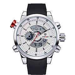 お買い得  大特価腕時計-男性用 スポーツウォッチ リストウォッチ クォーツ LED ホット販売 PU バンド ハンズ チャーム カジュアル ブラック - ホワイト ブラック