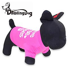 قط كلب T-skjorte ملابس الكلاب حرف وعدد وردي