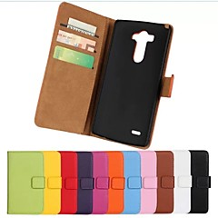 Недорогие Чехлы и кейсы для LG-Кейс для Назначение LG Бумажник для карт Кошелек со стендом Флип Чехол Сплошной цвет Твердый Кожа PU для