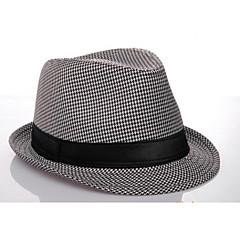tanie Biżuteria do włosów-kapelusz panama w stylu bawełny męskiej (czarno-biały) w eleganckim stylu