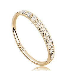 Bransoletki cuff Kryształ Unikalny Modny luksusowa biżuteria biżuteria kostiumowa Imitacja diamentu 18K złoty Biżuteria Biżuteria Na