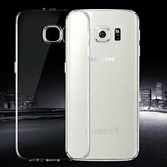Para Funda Samsung Galaxy Ultrafina / Transparente Funda Cubierta Trasera Funda Un Color TPU Samsung S6