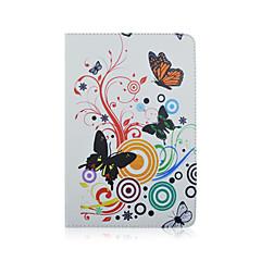 お買い得  タブレット用ケース-10インチタブレットのための動物のハードpuの革を印刷するスタンドフルボディの場合と普遍的なフルボディのケースのケース