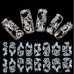 Цветы/Свадьба - 3D наклейки на ногти - Пальцы рук - 15X7.5X0.2 - 1 - Прочее