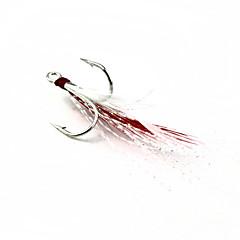Anzuelos Pesca-1 Pcs pcs Blanco / Rojo Plástico blando / Metal-N/APesca de Mar / Pesca de baitcasting / Pesca de agua dulce / Pesca de