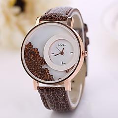 preiswerte Tolle Angebote auf Uhren-Damen Imitation Diamant PU Band Blume / Modisch Weiß / Rot / Rosa / Ein Jahr / Jinli 377