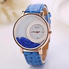 voordelige Dameshorloges-Dames Modieus horloge Zwevende kristallen horloge Kwarts imitatie Diamond PU Band Bloem Wit Rood Roze Paars