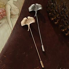 Europejski styl retro moda Miłorząb dwuklapowy pin broszka