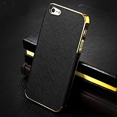 Gold Plated Cross Pattern Phone Shell for iPhone 5/5S(Assorted Colors)