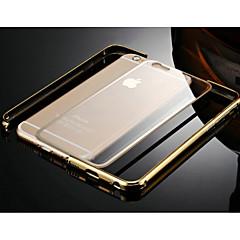 Недорогие Кейсы для iPhone 6 Plus-Кейс для Назначение Apple iPhone 6 iPhone 6 Plus Прозрачный Бампер Сплошной цвет Твердый Металл для iPhone 6s Plus iPhone 6s iPhone 6