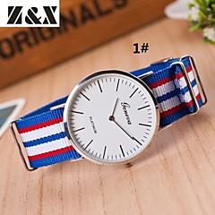 お買い得  レディース腕時計-女性用 ファッションウォッチ クォーツ 多色 ホット販売 ハンズ ストライプ - 3 # 4 # 5 # 1年間 電池寿命 / SSUO 377