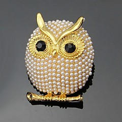 hesapli -Kadın Broşlar Moda Kişiselleştirilmiş Euramerican Çiçekli Yapay Elmas alaşım Animal Shape Mücevher Uyumluluk Düğün Parti Özel Anlar Günlük