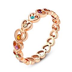 preiswerte Ringe-Damen Kristall Statement-Ring - Diamantimitate, Aleación Herz, Liebe Simple Style, Modisch, Mehrfarbig Eine Größe Für Hochzeit / Party