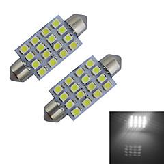 お買い得  LED 電球-80-100 lm Festoon デコレーションライト 16 LEDの SMD 3528 クールホワイト DC 12V