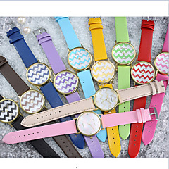 preiswerte Tolle Angebote auf Uhren-Damen Armbanduhr Schlussverkauf Leder Band Freizeit / Streifen / Modisch Mehrfarbig