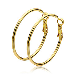 cheap Earrings-Women's Gold Hoop Earrings - Circle For