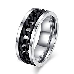 Męskie Damskie Duże pierścionki Miłość biżuteria kostiumowa Stal tytanowa Biżuteria Biżuteria Na Ślub Impreza Codzienny Casual Sport