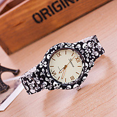 preiswerte Damenuhren-Damen Armband-Uhr Quartz Schlussverkauf Plastic Band Analog Blume Modisch Schwarz - Schwarz Golden Ein Jahr Batterielebensdauer / Tianqiu 377