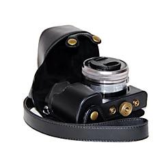 abordables Fundas, Bolsas y Correas-dengpin pu cámara de cuero cubierta de la bolsa caso para sony ILCE-6000L A6000-ILCE 6000 con lente de 16-50mm (colores surtidos)
