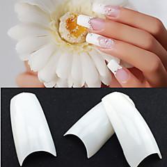 billige søm spids-500 professionelle hvid koreanske standarder halvt godt falske akryl nail art tips (50pcsx10 størrelser blandet)
