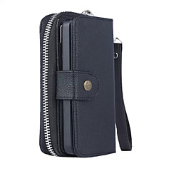 tanie Etui do iPhone 7-Kılıf Na Apple iPhone X iPhone 8 Etui iPhone 5 Etui na karty Portfel Pokrowiec Solid Color Twarde Skóra PU na iPhone X iPhone 8 Plus