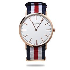 お買い得  大特価腕時計-男性用 クォーツ リストウォッチ カジュアルウォッチ 生地 バンド ストライプ ブラック ブルー レッド グリーン
