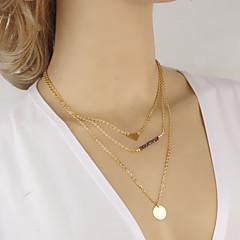 preiswerte Halsketten-Damen Kristall Mehrschichtig Halsketten / Ketten - Krystall Punk, Mehrlagig Golden Modische Halsketten Für Party, Alltag, Normal