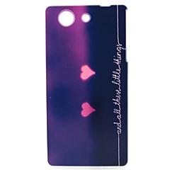 сердце картины ТПУ материал мягкий телефон случае для Sony z3 мини