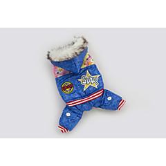 お買い得  犬用ウェア&アクセサリー-犬用品 パーカー / デニムジャケット ブルー 犬用ウェア 冬 Stars