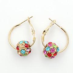 tanie Kolczyki-Damskie Kolczyki wiszące Kryształ Modny Europejski biżuteria kostiumowa Kryształ górski Pozłacane 18K złoty Imitacja diamentu Kryształ