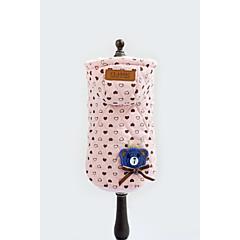 お買い得  犬用ウェア&アクセサリー-犬 パーカー 犬用ウェア 高通気性 ハート 蝶結び ピンク コスチューム ペット用