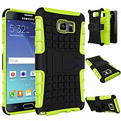 Для Samsung Galaxy Note Защита от удара / со стендом Кейс для Задняя крышка Кейс для Армированный PC Samsung Note 5 Edge / Note 5