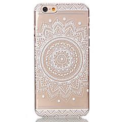 Недорогие Кейсы для iPhone 6-Кейс для Назначение Apple iPhone 6 Plus / iPhone 6 Прозрачный / С узором Кейс на заднюю панель Цветы Твердый ПК для iPhone 6s Plus / iPhone 6s / iPhone 6 Plus