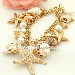 preiswerte Armbänder-Damen Perle Manschetten-Armbänder - Künstliche Perle, Hülle Einzigartiges Design, Böhmische, Modisch Armbänder Golden Für Alltag Normal