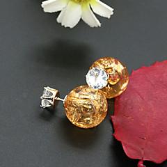 preiswerte Ohrringe-Damen Kristall Ohrstecker - 18K vergoldet, Strass, vergoldet Europäisch, Modisch Rosa / Hellblau / Leicht Grün Für / Diamantimitate / Österreichisches Kristall
