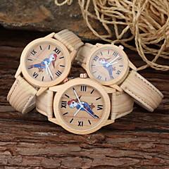 preiswerte Armbanduhren für Paare-Herrn / Damen / Paar Modeuhr PU Band Zeichentrick Khaki