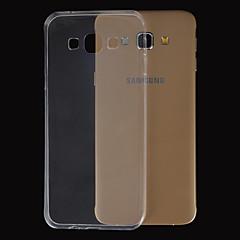 Mert Samsung Galaxy tok Ultra-vékeny / Átlátszó Case Hátlap Case Egyszínű TPU Samsung A8 / A7 / A5 / A3