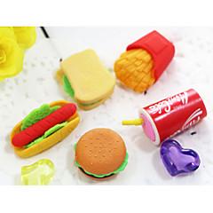 hamburger cola chips gyorsétterem téma karakter radír (véletlenszerű szín)