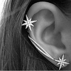 preiswerte Ohrringe-Damen Kristall Ohr-Stulpen Ohrring Ohr Kletterer - Strass Stern Retro, Party, Büro Farbbildschirm Für Alltag