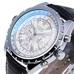 お買い得  メンズ腕時計-男性用 リストウォッチ / 機械式時計 カレンダー レザー バンド ブラック / 自動巻き