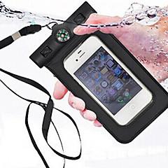 For Vandtæt Med vindue Etui Pose etui Etui Helfarve Blødt PC for Universal iPhone SE/5s/5