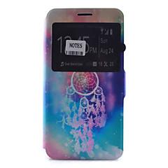 Недорогие Чехлы и кейсы для Galaxy Note 5-Кейс для Назначение SSamsung Galaxy Samsung Galaxy Note Бумажник для карт со стендом с окошком Флип С узором Чехол Ловец снов Мягкий Кожа
