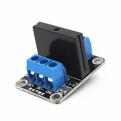 1-kanałowy moduł półprzewodnikowy przekaźnik 5V wysoki poziom wyzwalania 240v 2a SSR - czarny + niebieski