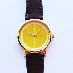 Heren Dames Uniseks Modieus horloge Kwarts PU Band Wit Zwart Koffie Bruin