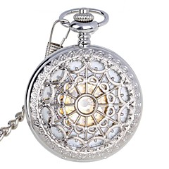 cheap Pocket Watches-Men's Pocket Watch Mechanical Watch Automatic self-winding Silver 30 m Water Resistant / Water Proof Hollow Engraving Analog Luxury - Silver