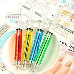 Syringe Pen Injection Needle Tube Ball Point Pen Doctor Nurse Fun (Random Color)