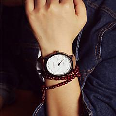 preiswerte Armbanduhren für Paare-Paar Armbanduhr Armbanduhren für den Alltag PU Band Retro / Modisch Braun